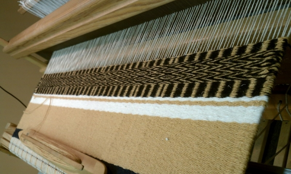 Saddle blanket on loom